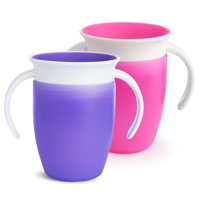Munchkin Miracle 360 Trainer Cup, 7oz, 2pk, Pink/Purple