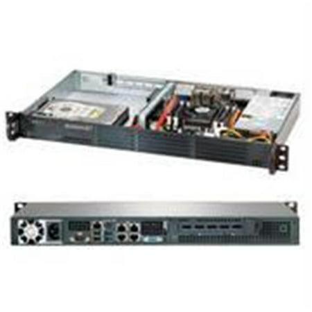 Media Center Barebone System - Supermicro SuperServer SYS-5018A-TN4 Intel Atom C2750 200W 1U Rackmount Server Barebone System - Black