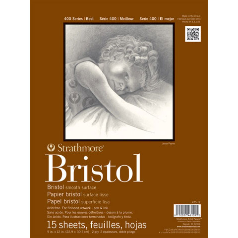 "Strathmore - Bristol Paper Pad - Series 400 - Smooth - 11"" x 14"" - 15 Shts./Pad"