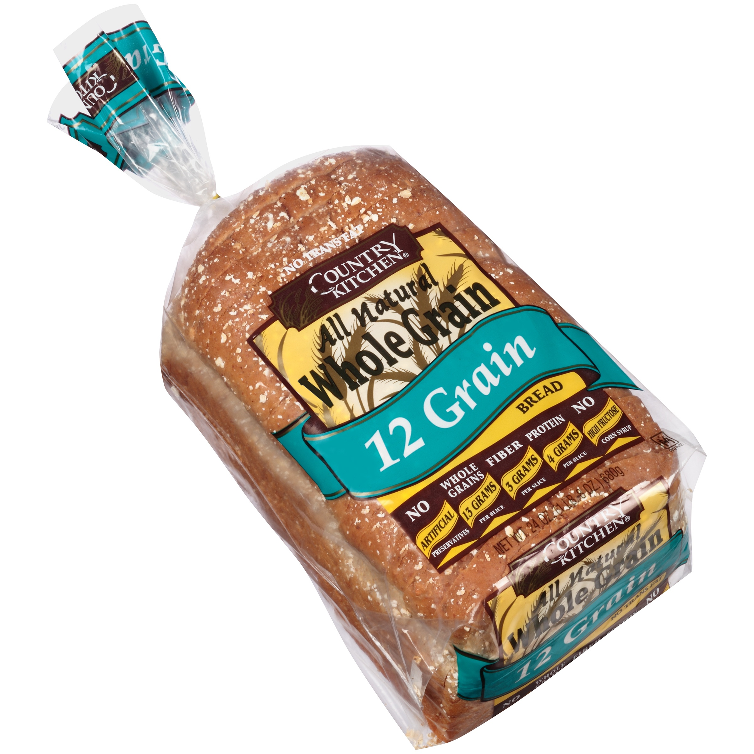Country Kitchen All Natural Whole Grain 12 Bread 24 Oz Bag