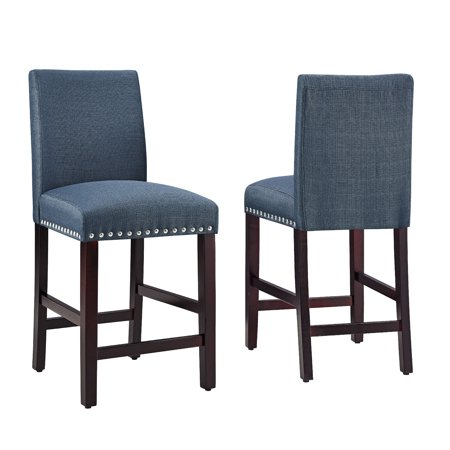 DHI Nice Nail Head Upholstered Counter Stool (2PK), Multiple -