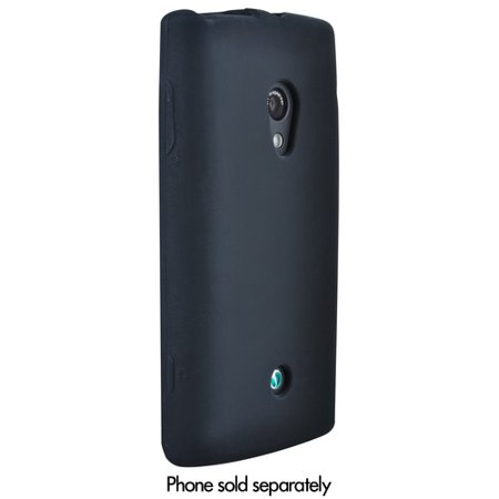 XPERIA X10 CASE, BLACK SOFT RUBBER FLEXIBLE SKIN CASE COVER FOR SONY ERICSSON XPERIA X10, Rachael ()