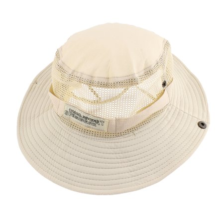 Unique bargains outdoor hunting fishing 8cm width brim cap for Fishing hats walmart