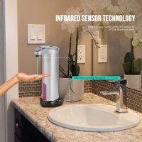 """Happyline"" Stainless Steel Soap Dispenser Metal Touchless Soap Automatic Sensor Liquid Soap & Sanitizer Dispenser The Hands-Free Soap Dispenser Touch Free Automatic Liquid"
