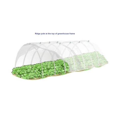 Agfabric Hoop House Kit, Mini Greenhouse, Grow Tunnel,Plant Cover &Frost  Blanket For Season Extension and Seed Germination (45FT long)