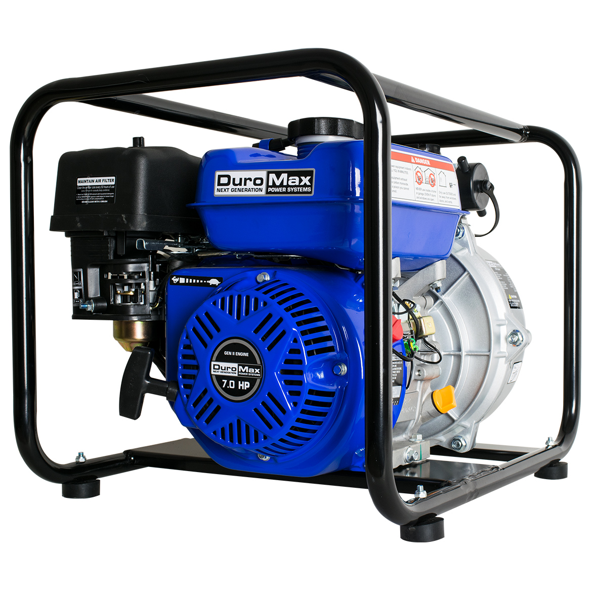 DuroMax XP702HP 212cc 7-HP 2-Inch 70-GPM Gas Powered High Pressure Water Pump