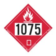 LABELMASTER 35ZL52 Flammable Gas Placard,10-3/4inx10-3/4in G2005160