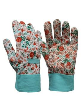 Expert Gardener Women's Medium Canvas Gripping Gloves