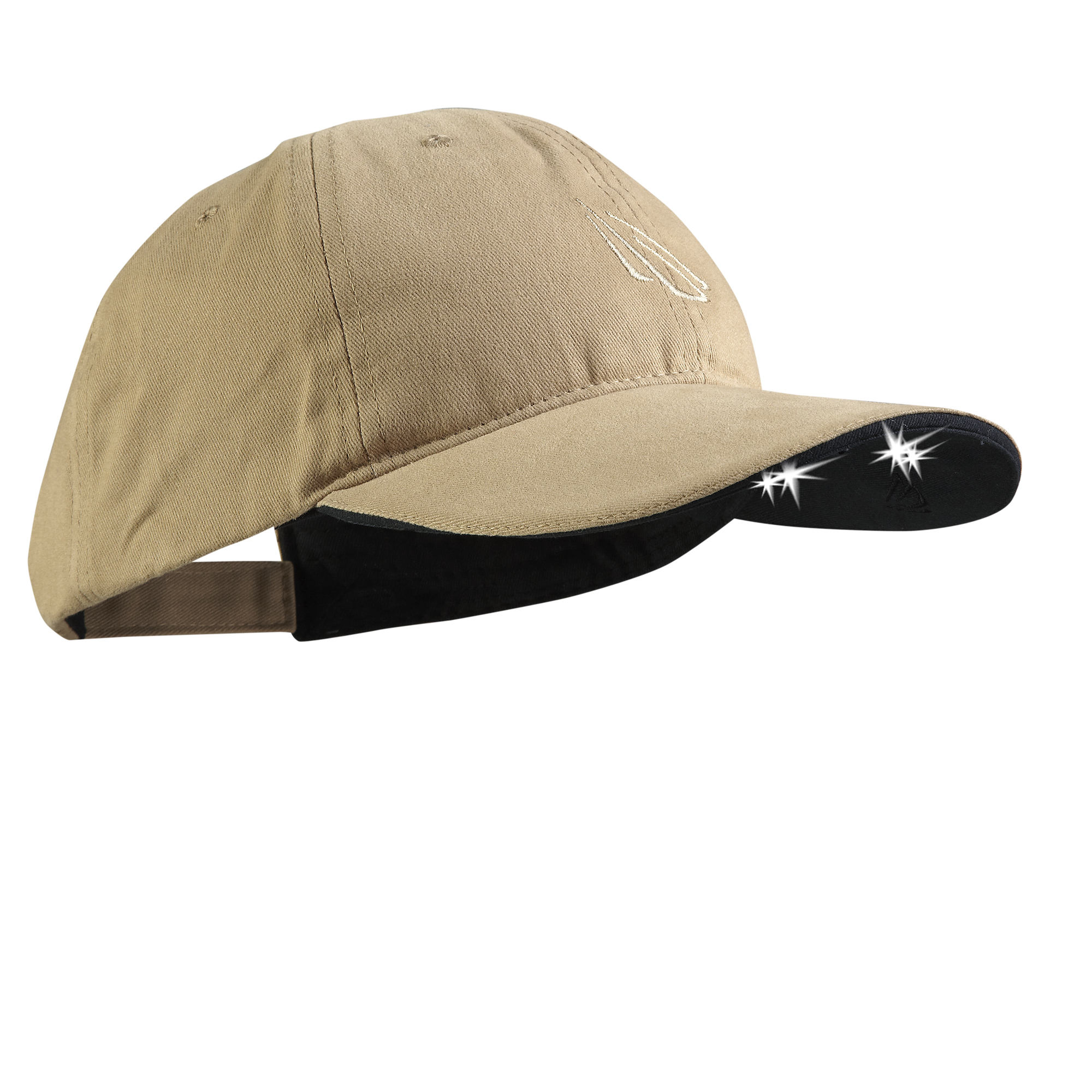 Powercap  2510 Structured Cotton Hat with LED lights, Khaki
