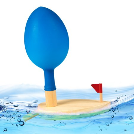 Baby Toys Wooden Balloon Boat Balloon Powered Boat Child Wooden Bath - Kids Wooden Boat