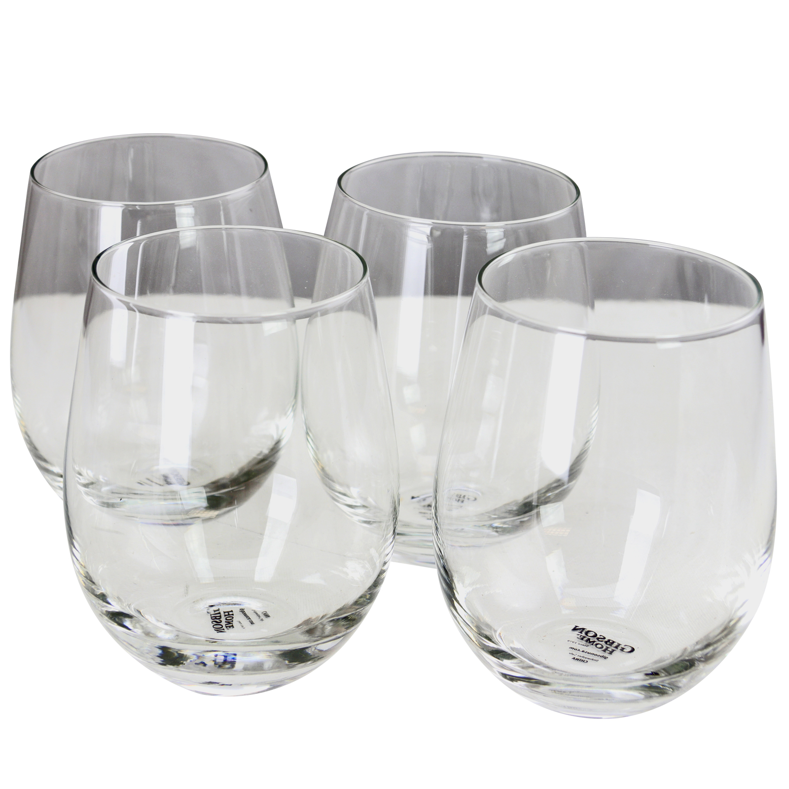 Gibson Home Imagination 4-Piece 18 oz. Stemless Clear Glass Set