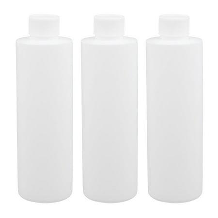 Unique Bargains 3pcs 6.8oz HDPE Plastic White Refillable Narrow Mouth Storage Bottle Jar