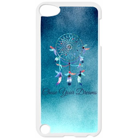 Chase Your Dreams Dreamcatcher Hard White Plastic Case Compatible with the Apple iPod Touch 4th Generation - iTouch 4 Universal (Make Your Case For Ipod 4)