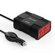 BESTEK 300W Power Inverter for Car Dual USB Ports 12V DC to 110V AC Car Inverter Converter for Smartphones, Tablet, Laptop, Breast pump, Nebulizer and More