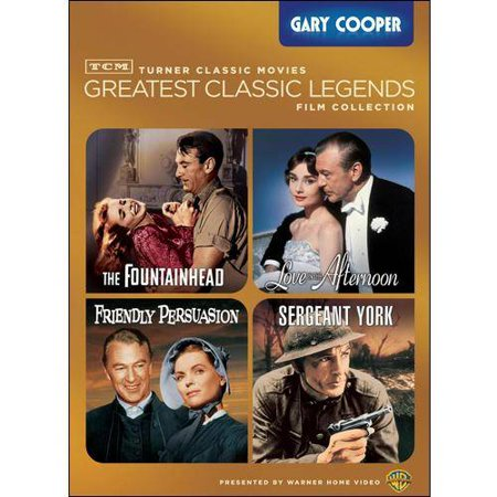 Tcm Greatest Classic Legends Film Collection  Gary Cooper   Sergeant York   The Fountainhead   Friendly Persuasion   Love In The Afteroon