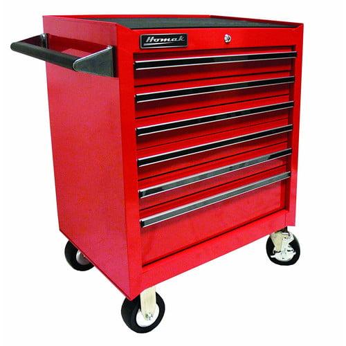 Homak Pro Series 6 Drawer Rolling Cabinet