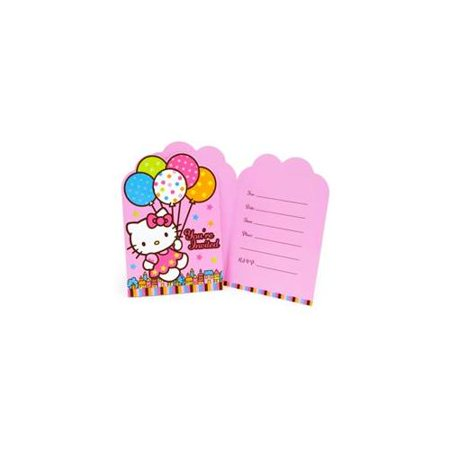Hello Kitty Pack of 8 Invitations](Hello Kitty Dessert Ideas)