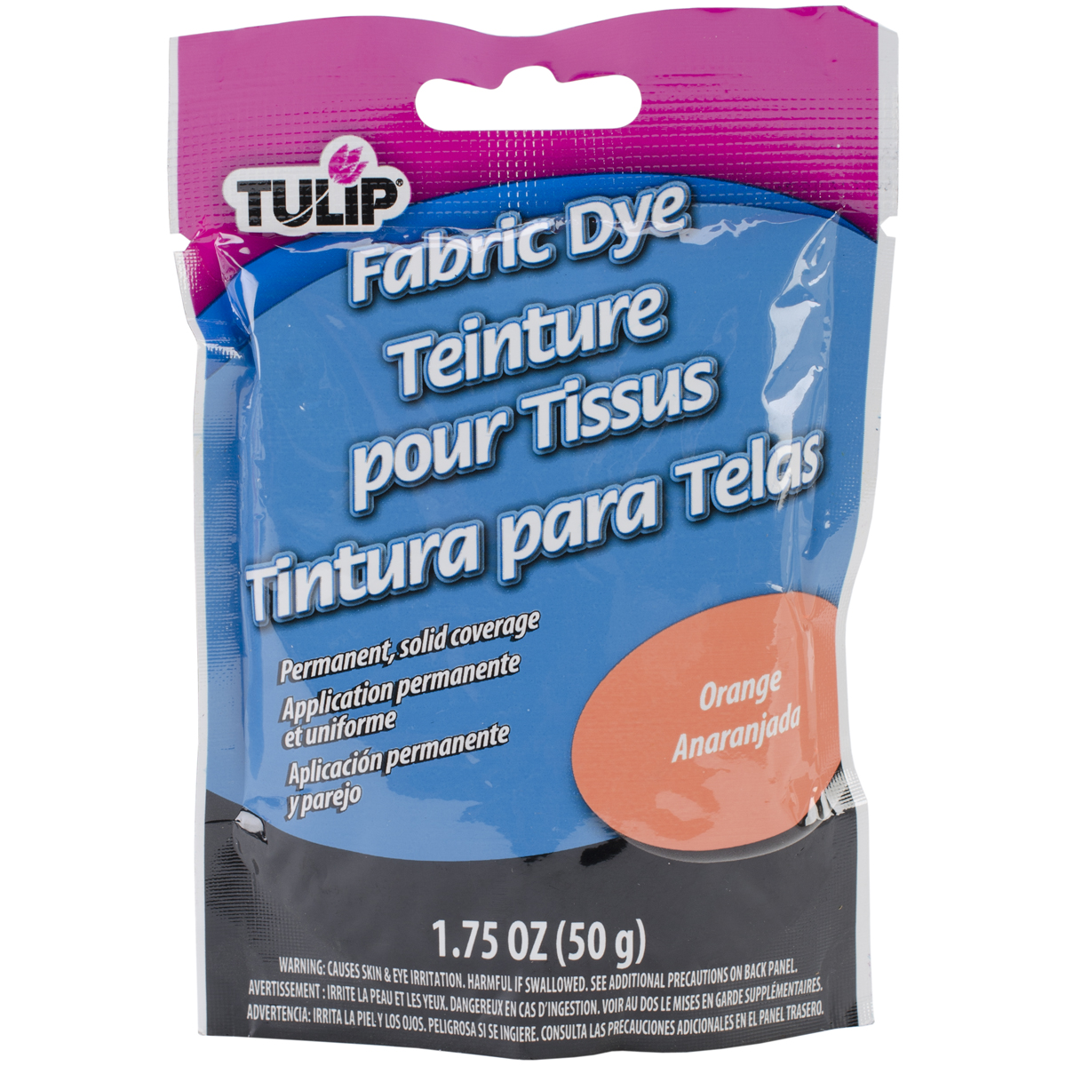Tulip Permanent Fabric Dye 1.76oz-Hot Orange