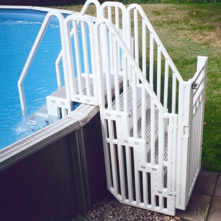 Confer Entry System For Above Ground Pools Various Step