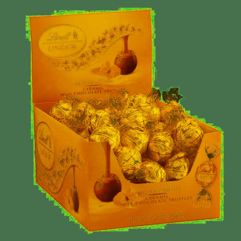 Lindt LINDOR Caramel Chocolate Truffles, 25.4 oz, 60 Count