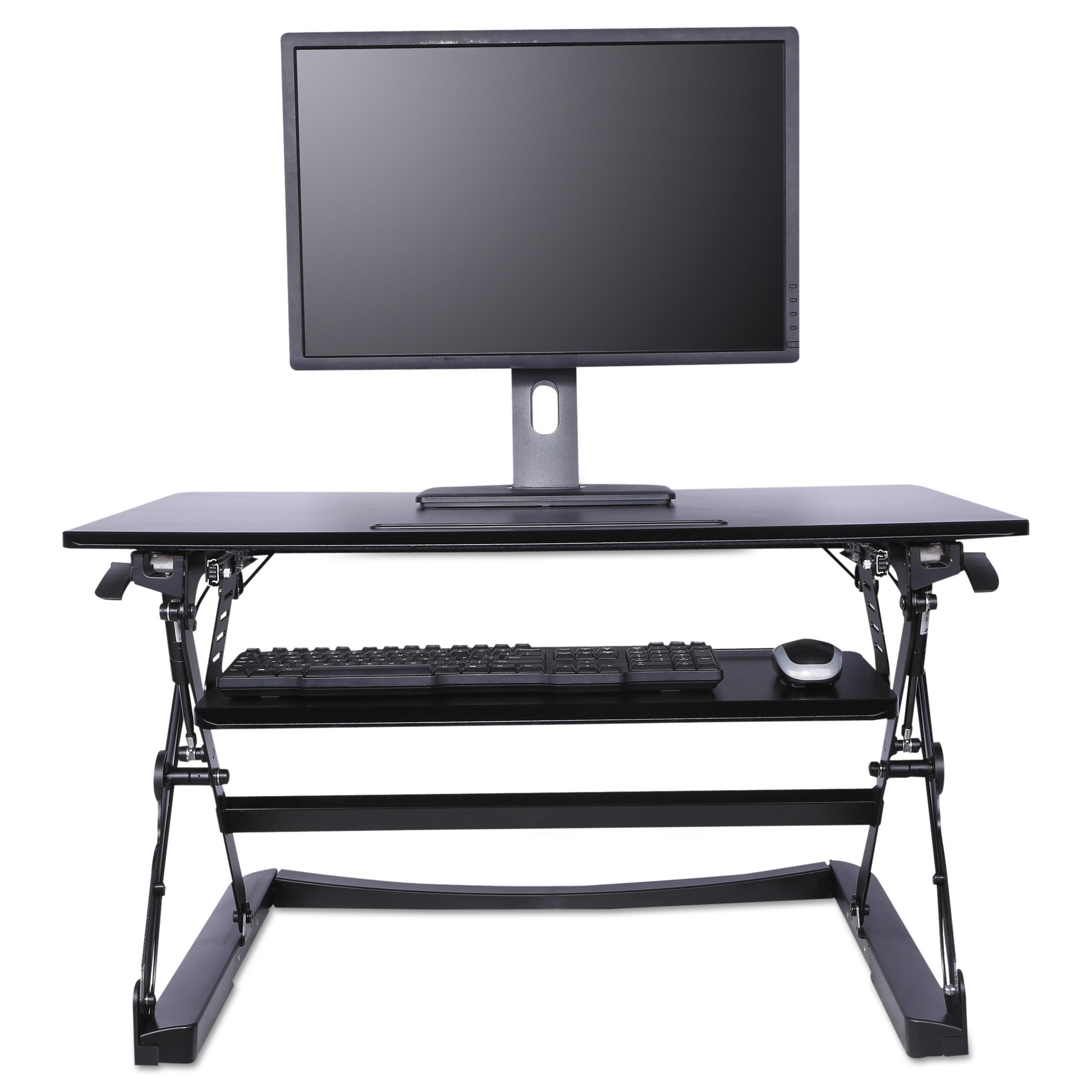 Alera Sit-Stand Lifting Workstation, 35 1/8 x 23 3/8 x 19 5/8,Black