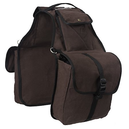 Tough-1 Canvas Saddle Bag Brown
