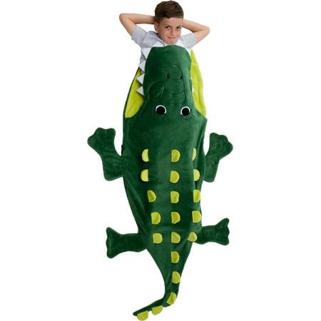 Plush Shark Sleeping Bag (Silver Lilly Plush Crocodile Animal Tail Novelty Sleeping Bag Blanket for)