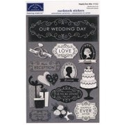 Wedding Cardstock Stickers 5.5 Inch X 9 Inch-Happily Ever After
