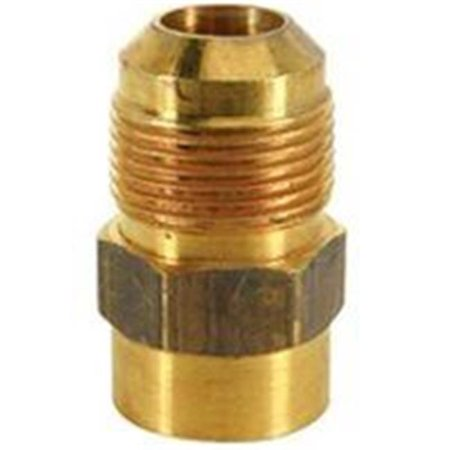 Gas Adapter, 0.625 x 0.50 in. Flared x FIP, 0.5 PSI - Brass - 40 TO 150 deg F - image 1 of 1