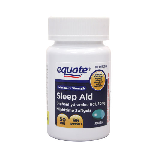 Equate Sleep Aid Liquidcaps, 96ct
