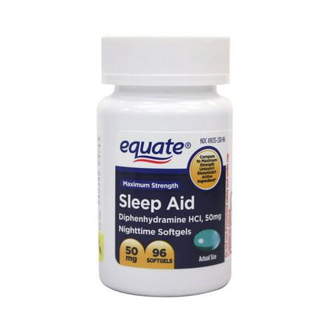 Equate Sleep Aid Liquidcaps, 96 ct