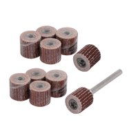 10pcs 10mm Dia 400 Grit Sandpaper Flap Sanding Wheel Grinding Head w Mandrel