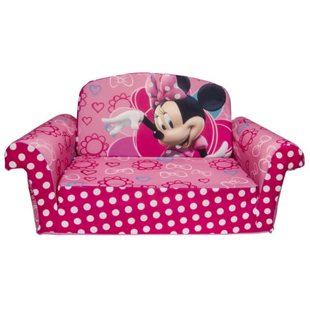 Marshmallow Furniture Children S 2 In 1 Flip Open Foam Sofa Disney Minnie Bow