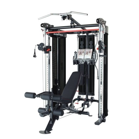 Inspire Fitness FT2 Functional Trainer and Smith Machine (Fully Loaded w/ Bench)