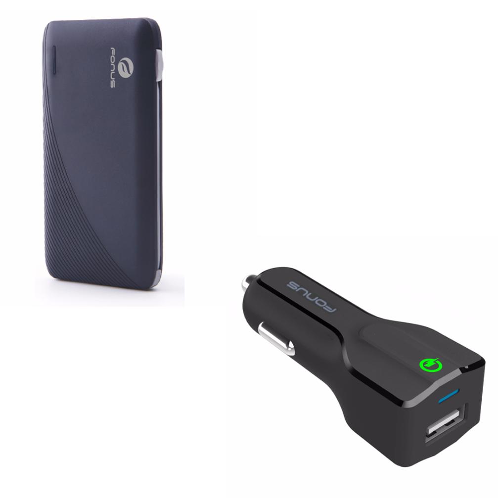 Fonus Slim 10000mAh Portable Battery Charger Backup Power...
