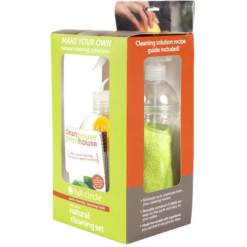 Full Circle Natural Cleaning Spray Bottle Set, FC10111, 7 pc