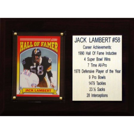 - C&I Collectables NFL 6x8 Jack Lambert Pittsburgh Steelers Career Stat Plaque