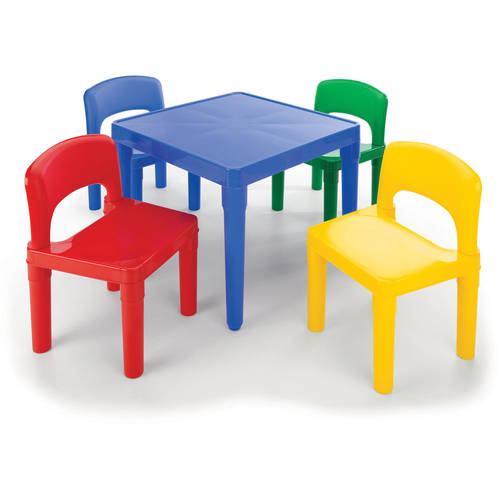 This button opens a dialog that displays additional images for this product with the option to zoom in or out.  sc 1 st  Walmart & Tot Tutors Kids Plastic Table and 4 Chairs Set Multiple Colors ...
