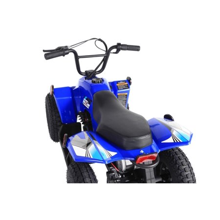 T4B SPARK Mini ATV 250W Brushless Electric KIDS Dirt Quad, 24V13.7Ah, All Terrain, Recreational Outdoors, Off-Road, 3-6 y.o. - Blue - image 1 of 11