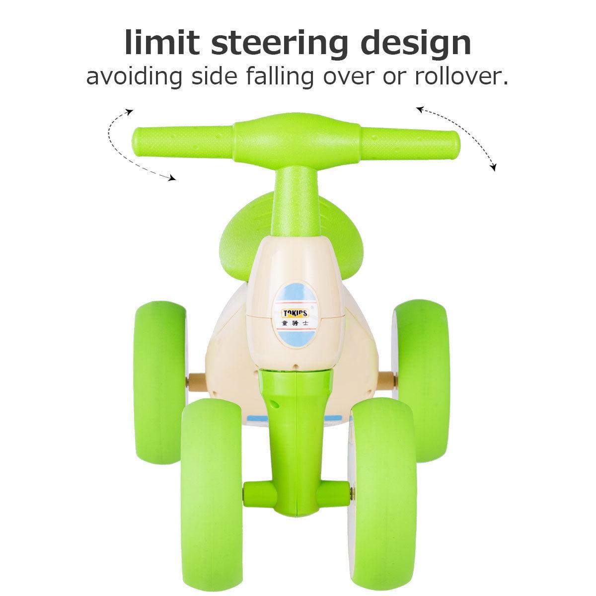 Costway Baby Balance Bike No Pedal Bicycle Children Walker 4 Wheels w/ Sound & Storage - image 1 de 10