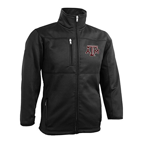 NCAA Texas A&M Mens Bonded Fleece Full Zip Jacket- XL,Black by