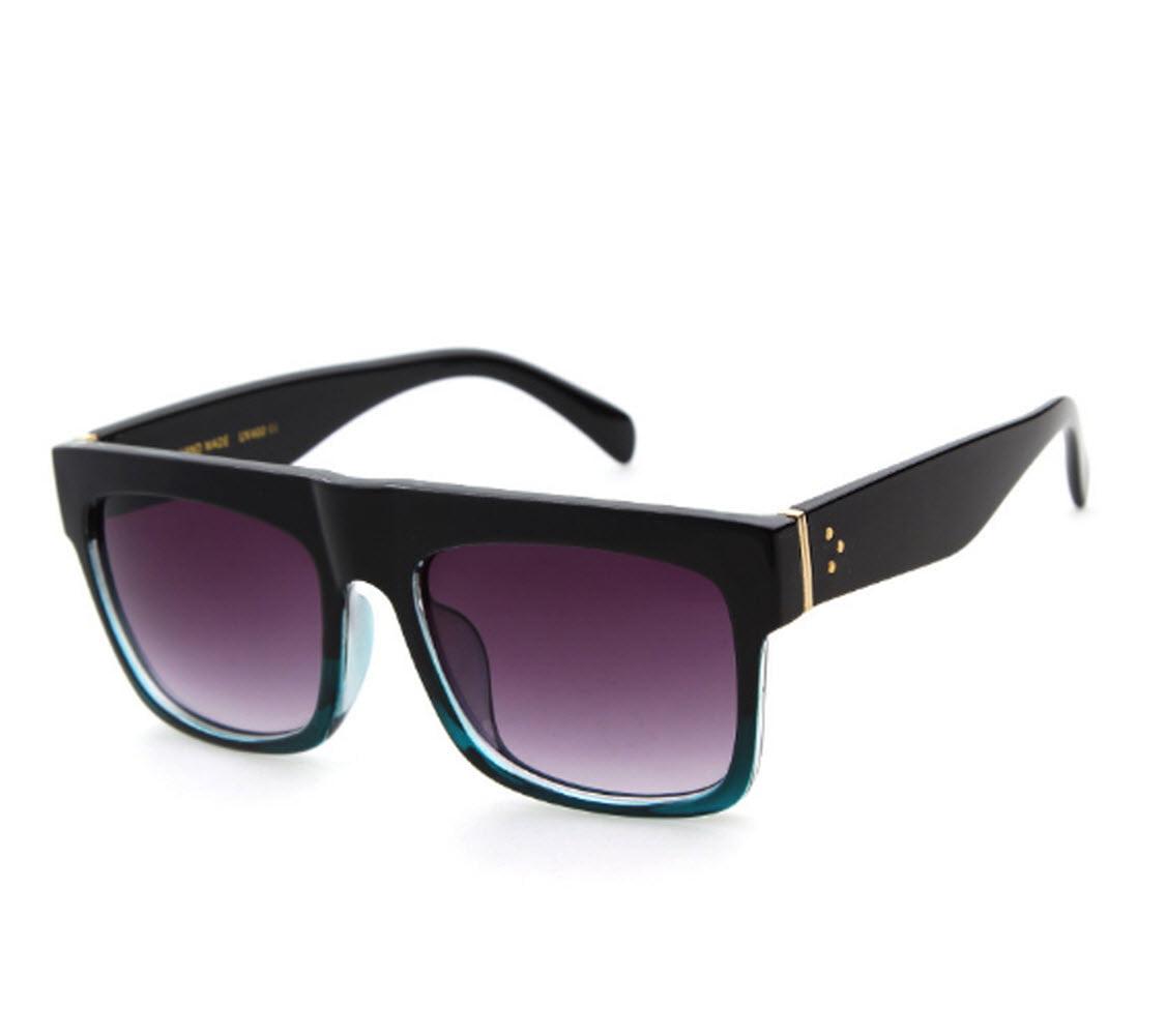 Flat Top Black Square Frame Sunglasses