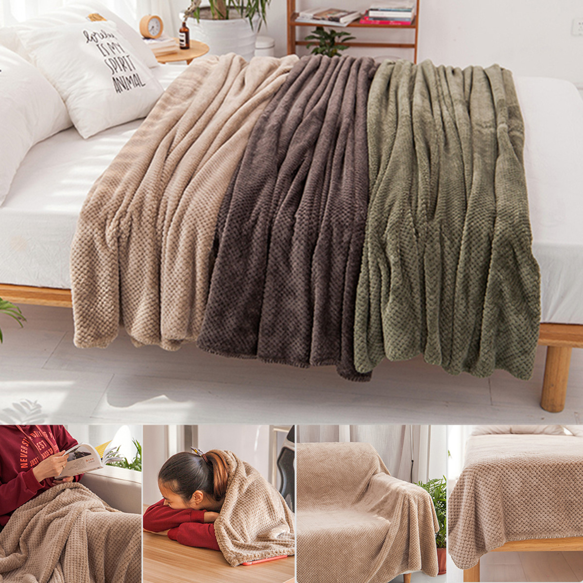 Bon 59u0027u0027x79u0027u0027 Coral Velvet Soft Warm Throw Blanket For Couch Throws Sofa Cover  Soft Bedding Throw Blanket   Walmart.com