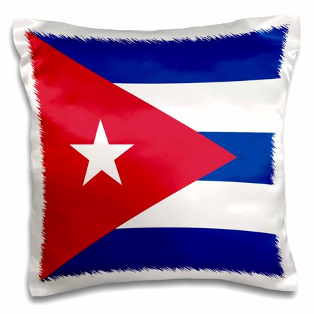 Triangle Flag Case (3dRose Flag of Cuba - Cuban blue stripes red triangle white star - Caribbean island country world flags, Pillow Case, 16 by)