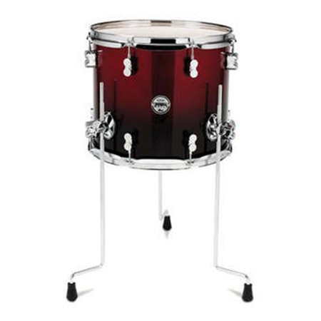 - PDP PDCM1214TTRB Red To Black Fade - Chrome Hardware Kit Drums, 12 x 14