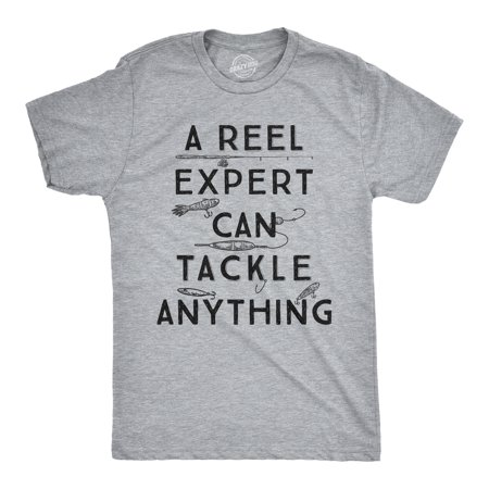 Mens A Reel Expert Can Tackle Anything Tshirt Funny Fishing - Reel Top