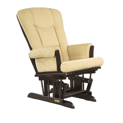 Shermag Glider Rocker Espresso Finish with Biscuit Cushion