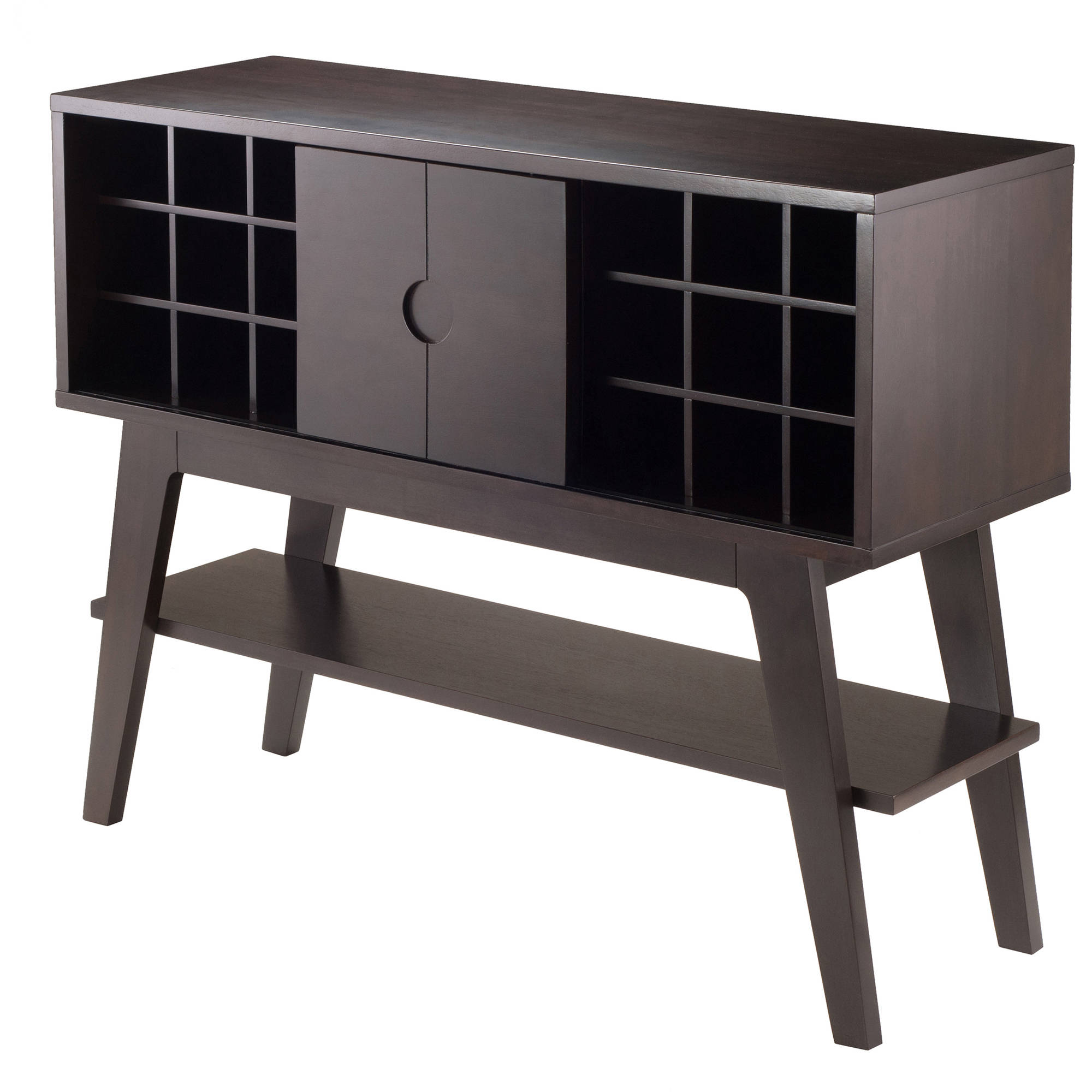 Winsome Monty Wine Console Table, Smoke