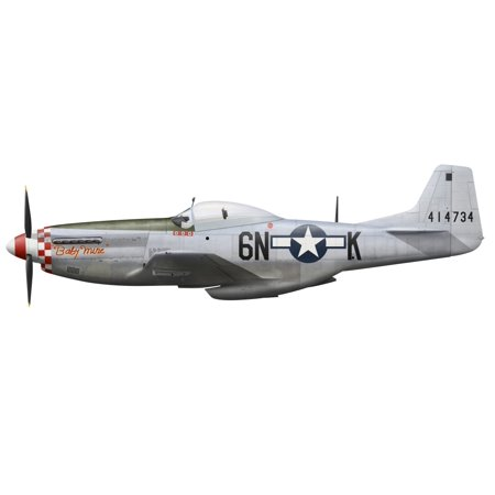 North American P-51D Mustang nicknamed Baby Mine assigned to the 505th Fighter Squadron 339th Fighter Group 8th USAAF in Europe Poster