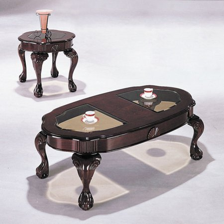 Acme Furniture Canebury 3 Piece Cherry Coffee Table Set